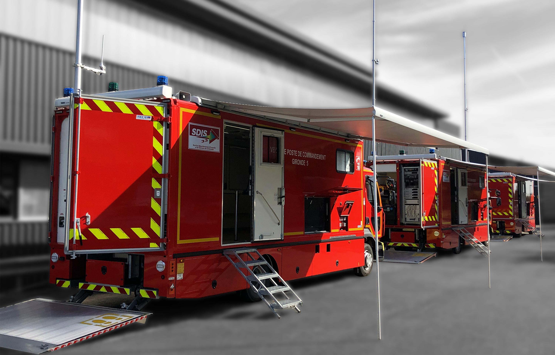 Poste de commandement poid lourd mobile - 8664067 - Pompiers