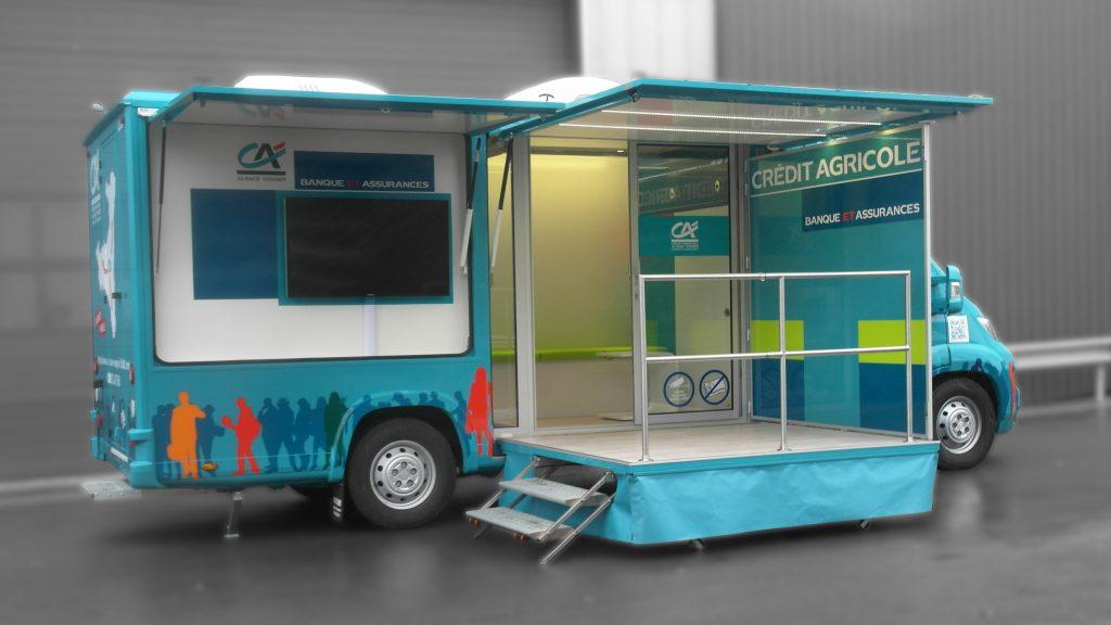 Agence mobile bancaire - 5256576 - Bureau mobile